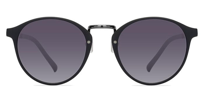 Millenium Matte Black Plastic Sunglass Frames from EyeBuyDirect