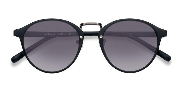 Matte Black Millenium -  Plastic Sunglasses