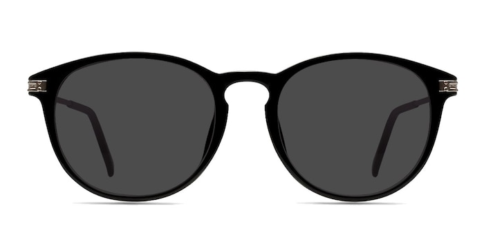 Monroe Black Silver Plastic-metal Sunglass Frames from EyeBuyDirect