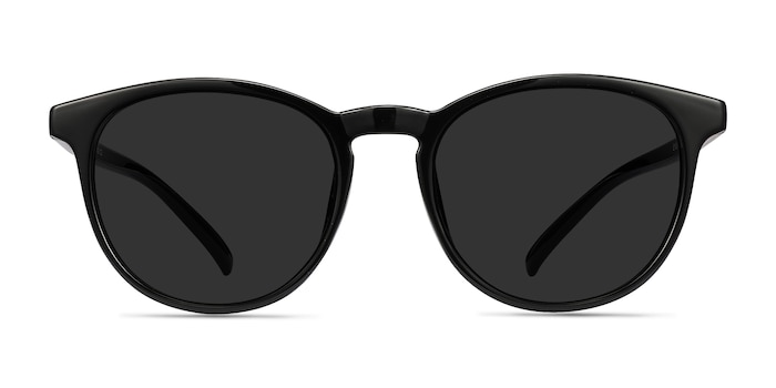 Deja Vu Black Plastic Sunglass Frames from EyeBuyDirect