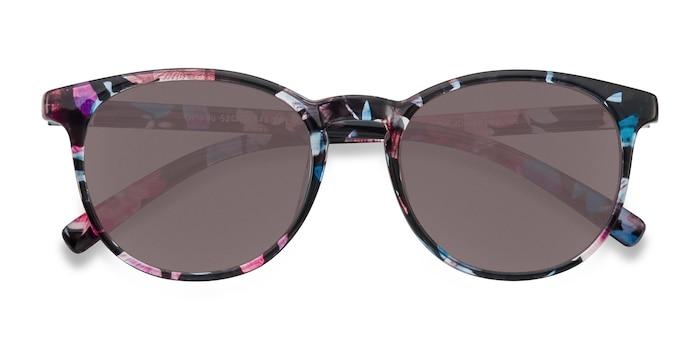 Blue/Floral Deja vu -  Plastic Sunglasses
