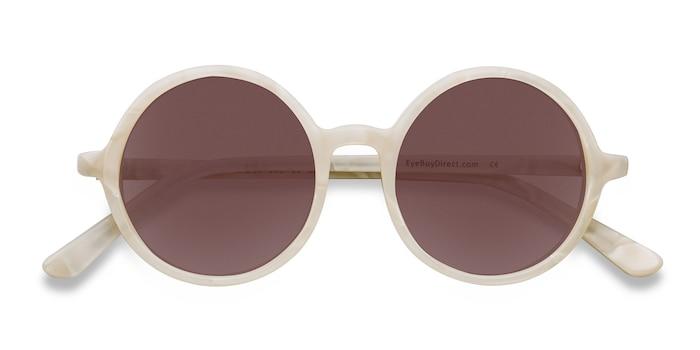White Alena -  Vintage Acetate Sunglasses