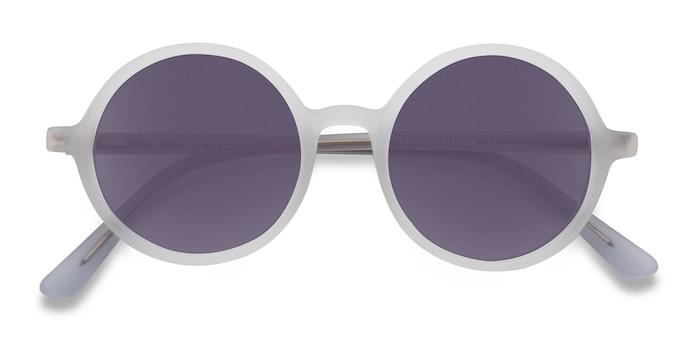 Matte Clear Alena -  Vintage Acetate Sunglasses