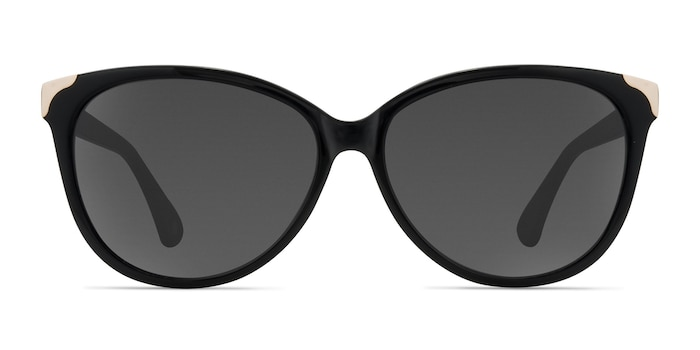 Lima Black Acetate Sunglass Frames from EyeBuyDirect