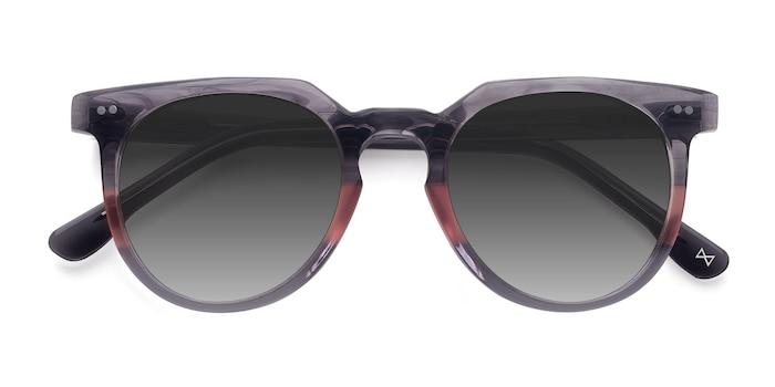 Granite & Rose Shadow -  Vintage Acetate Sunglasses