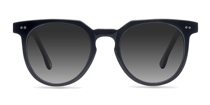 Shadow Jet Black Acetate Sunglass Frames from EyeBuyDirect