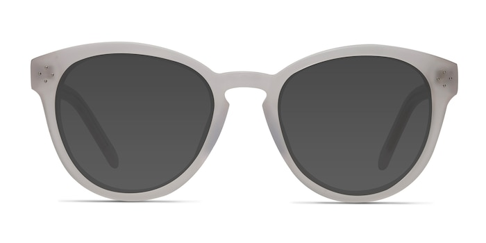 Augustine White Clear Acetate Sunglass Frames from EyeBuyDirect