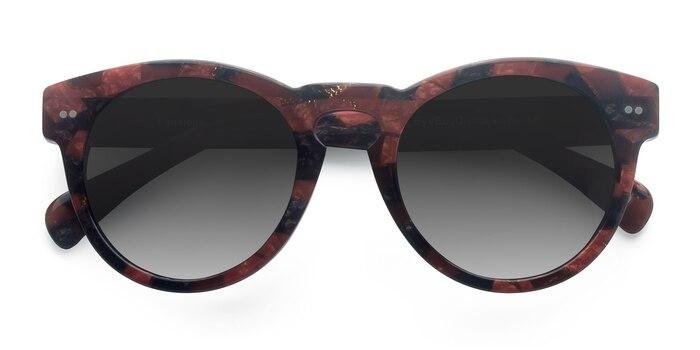 Red Floral Penelope -  Vintage Acetate Sunglasses