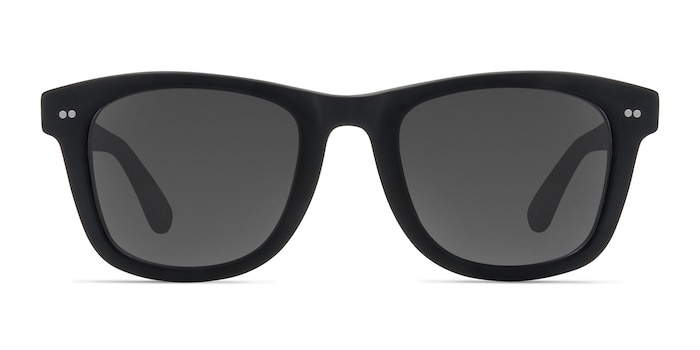 Nevada Matte Black Acetate Sunglass Frames from EyeBuyDirect