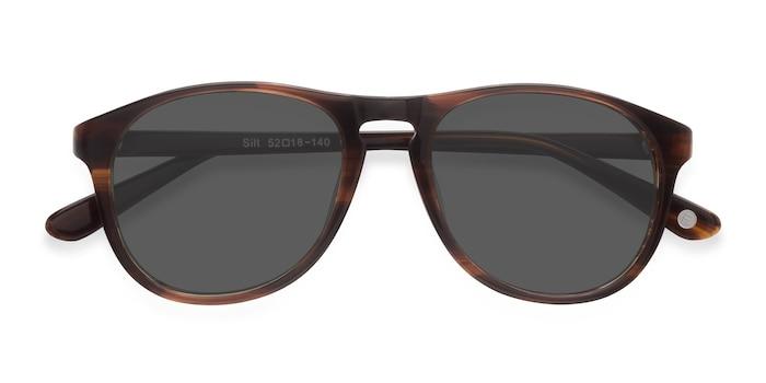 Brown Silt -  Acetate Sunglasses