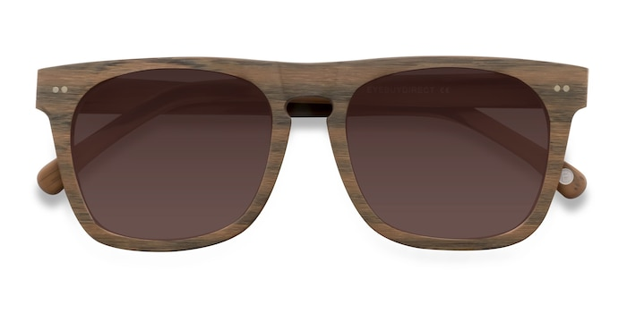 Brown Miami -  Wood Texture Sunglasses