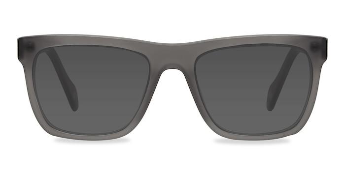 Virtual Matte Gray Acetate Sunglass Frames from EyeBuyDirect
