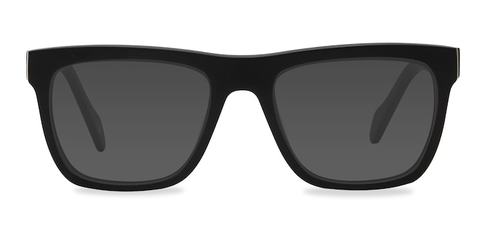 Virtual Matte Black Acetate Sunglass Frames from EyeBuyDirect