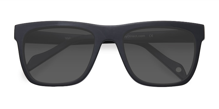Matte Black Virtual -  Acetate Sunglasses