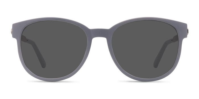 Terracotta Matte Gray Plastic-metal Sunglass Frames from EyeBuyDirect
