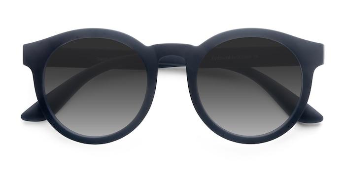 Matte Navy Oasis -  Plastic Sunglasses