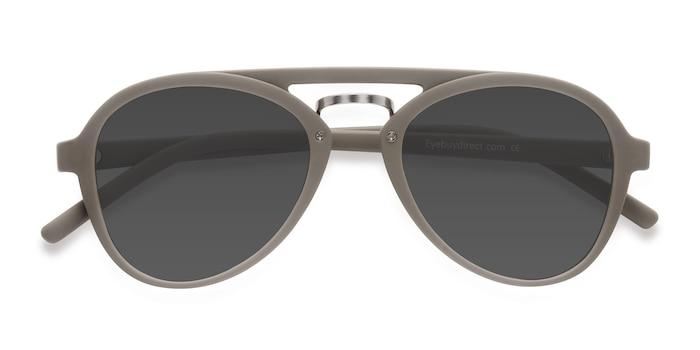 Light Green Chips -  Vintage Plastic Sunglasses