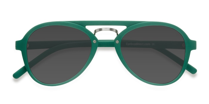 Green Chips -  Vintage Plastic Sunglasses