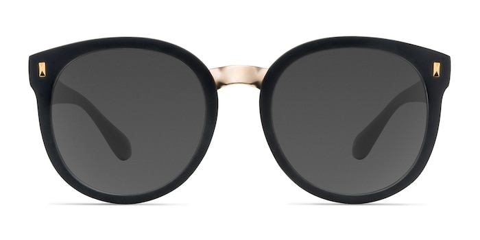 Vedette Matte Black Plastic-metal Sunglass Frames from EyeBuyDirect