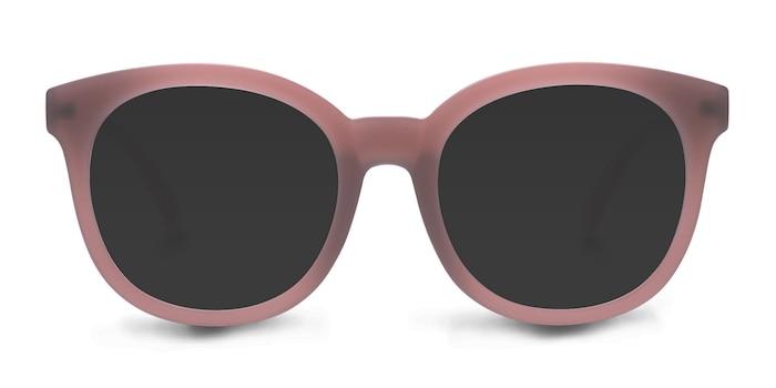 Elena Matte Brown Plastique Soleil de Lunette de vue d'EyeBuyDirect