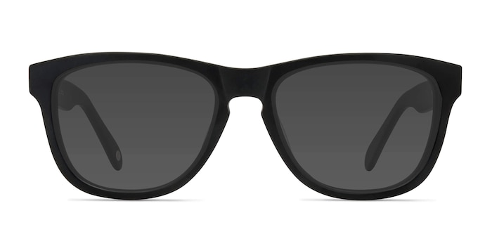 Malibu Matte Black Acetate Sunglass Frames from EyeBuyDirect