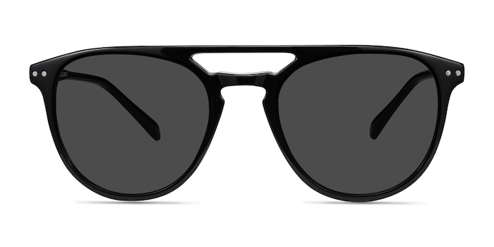 Meadow Black Plastic Sunglass Frames from EyeBuyDirect