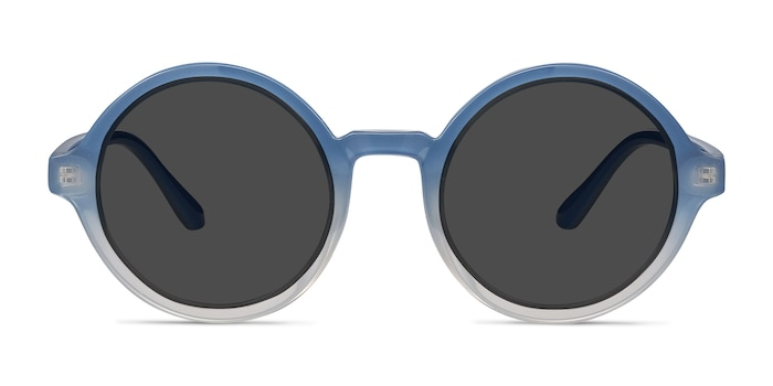 Solstice Blue Clear Plastic Sunglass Frames from EyeBuyDirect