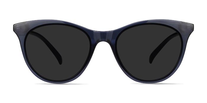 Cartel Clear Navy Plastic Sunglass Frames from EyeBuyDirect