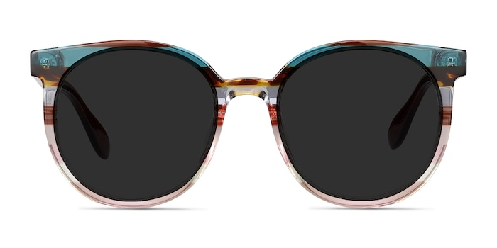 Valence Red Green Acetate Sunglass Frames from EyeBuyDirect