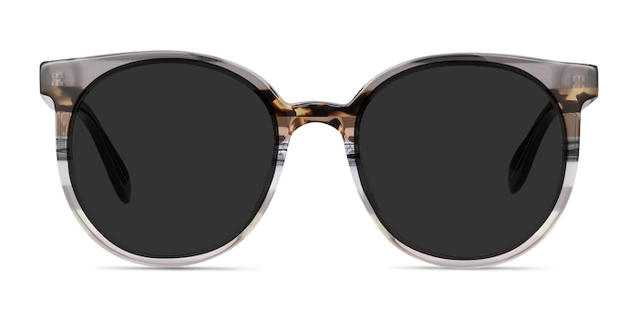 Valence Gray Brown Acetate Sunglass Frames from EyeBuyDirect