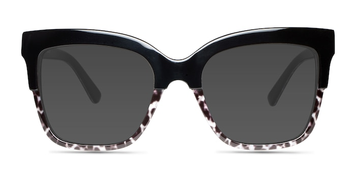 Intrigue Black Leopard Acetate Sunglass Frames from EyeBuyDirect