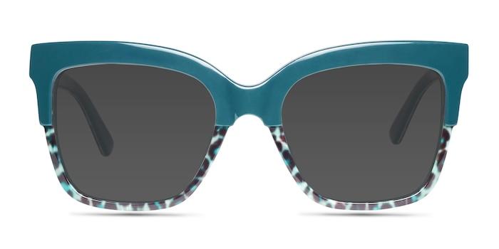 Intrigue Green Leopard Acetate Sunglass Frames from EyeBuyDirect