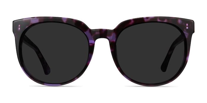 Queen Purple Tortoise Acetate Sunglass Frames from EyeBuyDirect