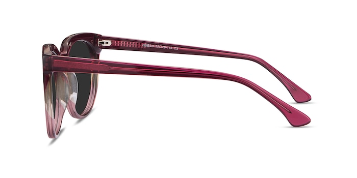 Queen Red Clear Acetate Sunglass Frames from EyeBuyDirect