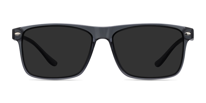 Cortez Gray Plastic Sunglass Frames from EyeBuyDirect