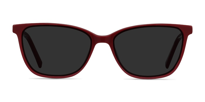 Halle Red Acetate Sunglass Frames from EyeBuyDirect