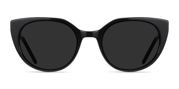 Sun Rhyme Black Acetate Sunglass Frames from EyeBuyDirect