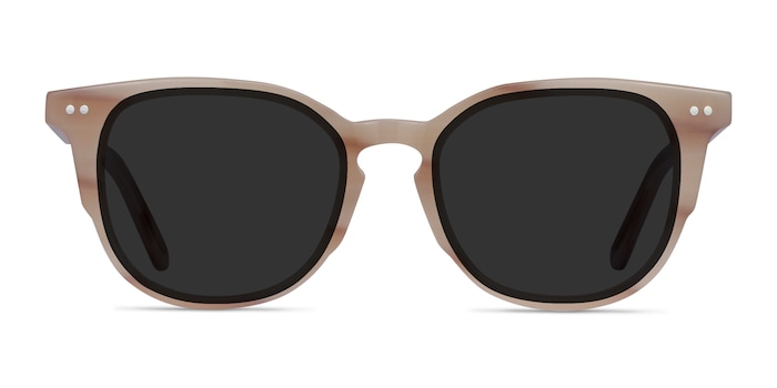 Emilie Brown Striped Acetate Sunglass Frames from EyeBuyDirect