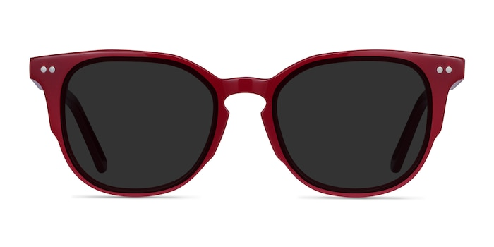 Emilie Burgundy Acetate Sunglass Frames from EyeBuyDirect
