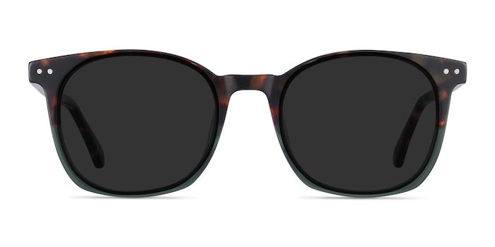 Soleil Tortoise Green Acetate Sunglass Frames from EyeBuyDirect