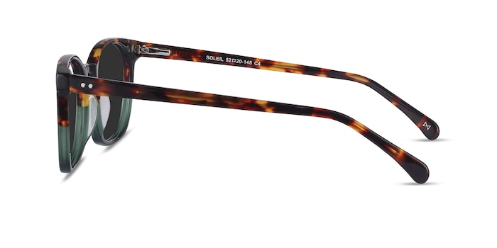 Soleil Tortoise Green Acetate Sunglass Frames from EyeBuyDirect