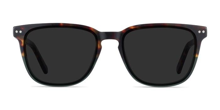 City Tortoise Green Acetate Sunglass Frames from EyeBuyDirect