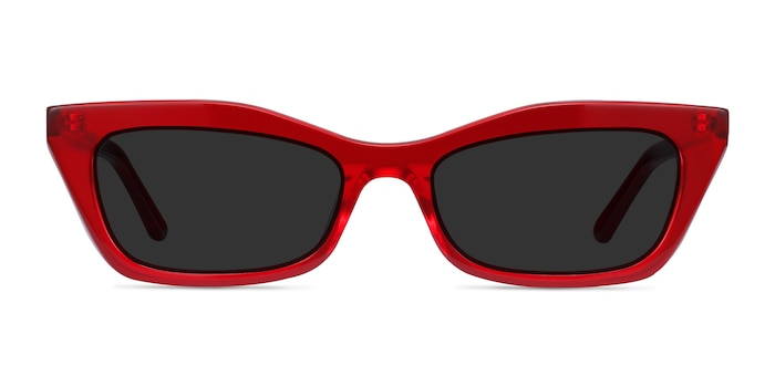 Suite Red Acetate Sunglass Frames from EyeBuyDirect
