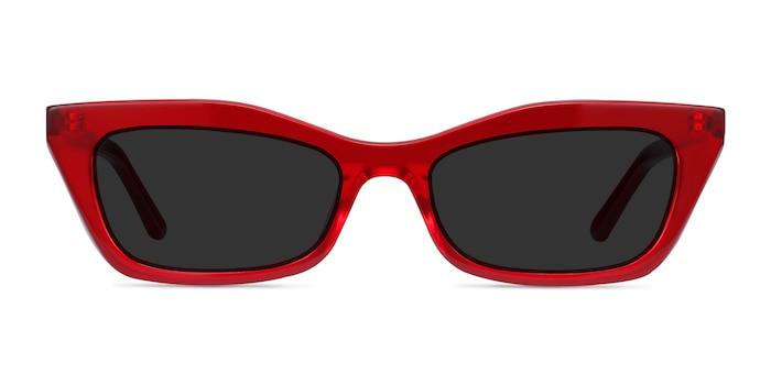 Suite Rouge Acétate Soleil de Lunette de vue d'EyeBuyDirect