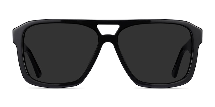Bauhaus Black Acetate Sunglass Frames from EyeBuyDirect