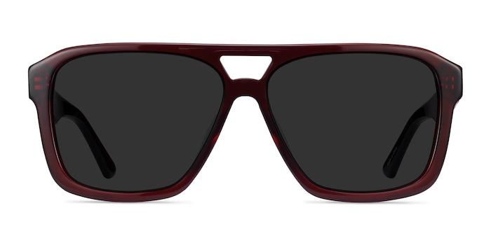Bauhaus Burgundy Acetate Sunglass Frames from EyeBuyDirect