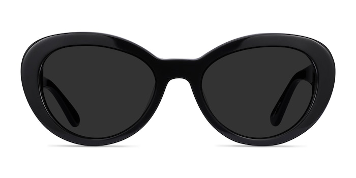 Elle Black Acetate Sunglass Frames from EyeBuyDirect