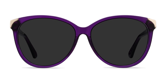 Lima Purple Acetate Sunglass Frames from EyeBuyDirect