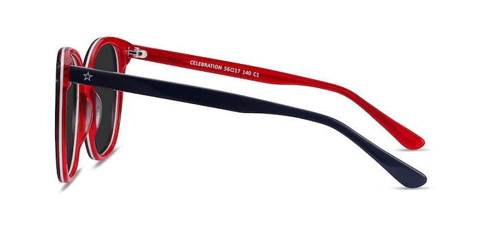 Celebration Navy & Red Acétate Soleil de Lunette de vue d'EyeBuyDirect