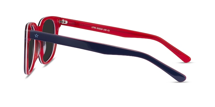 1776 Navy & Red Acetate Sunglass Frames from EyeBuyDirect